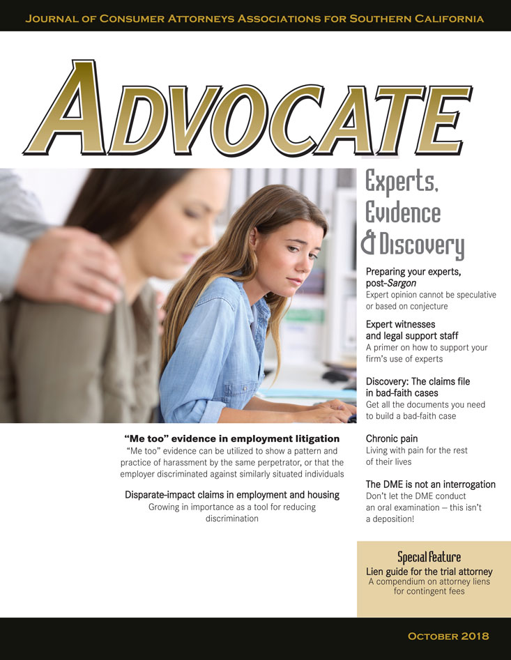 Advocate October 2018 Cover