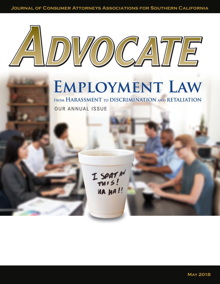 Advocate May 2018 Cover