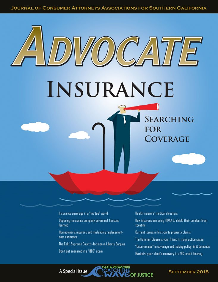 Advocate September 2018 Cover