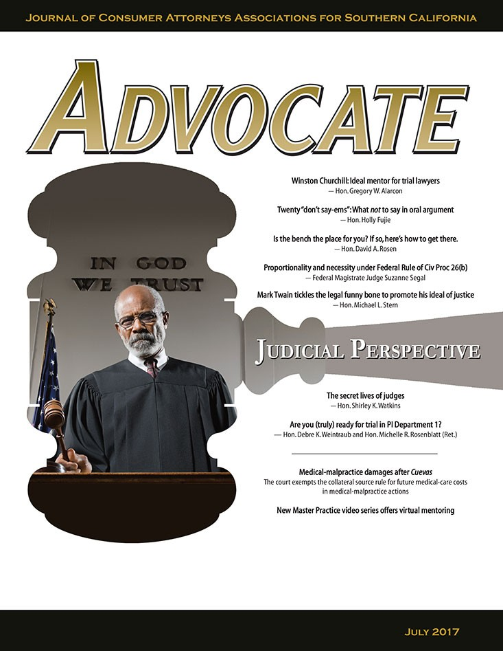 Advocate July 2017 Cover
